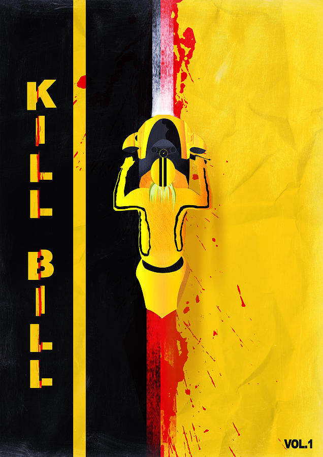 Blood Digital Art - Kill Bill minimalistic alternative movie poster by IamLoudness Studio