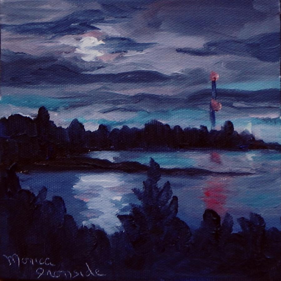 Original Painting - Killarney Eclipse by Monica Ironside