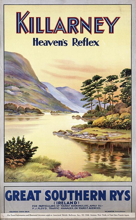 Killarney Heavens Park, Ireland - Great Southern Railways - Retro Travel Poster - Vintage Poster Photograph