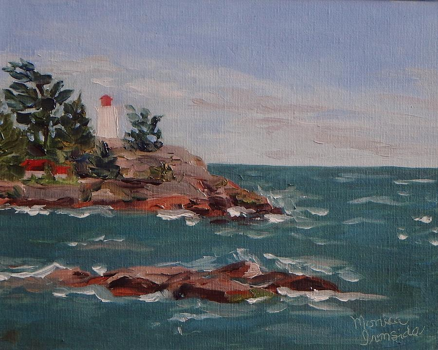 Oil Painting Painting - Killarney Lighthouse by Monica Ironside