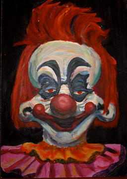 Paint Painting - Killer Klown by Sara Allison