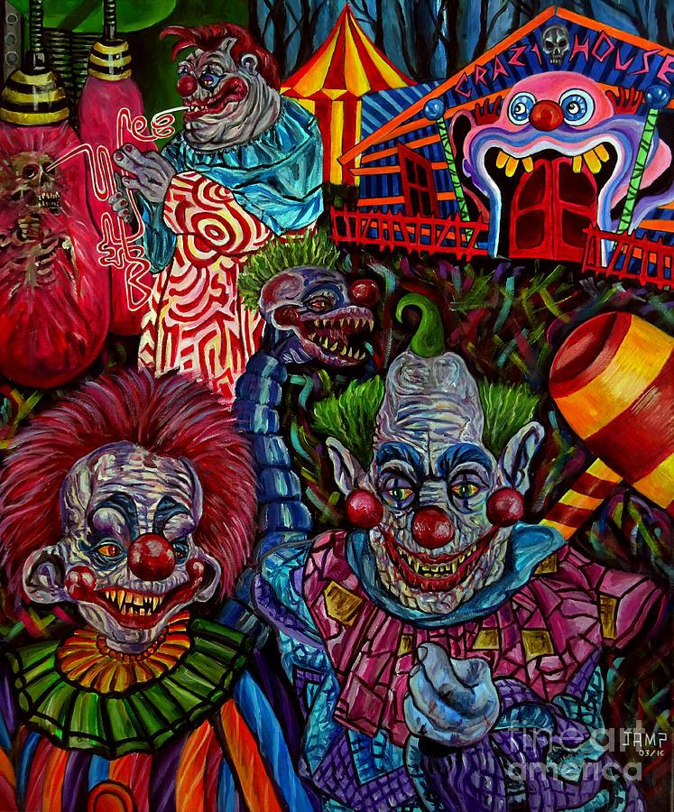 Killer Klowns Painting - killer Klowns by Jose Mendez