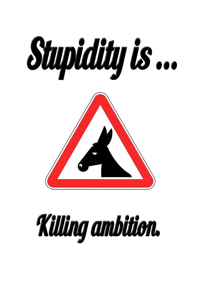 Funny Digital Art - Killing Bigstock Donkey 171252860 by Mitchell Watrous