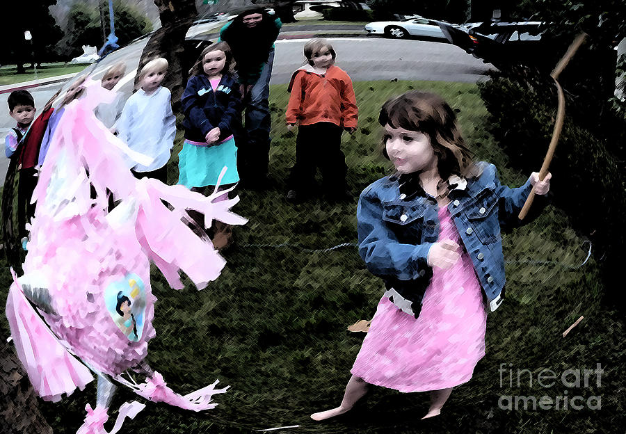 People Photograph - Killing The Pinata by JoAnn SkyWatcher