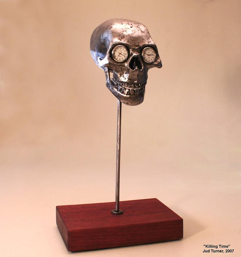 Steel Sculpture Sculpture - Killing Time by Jud  Turner