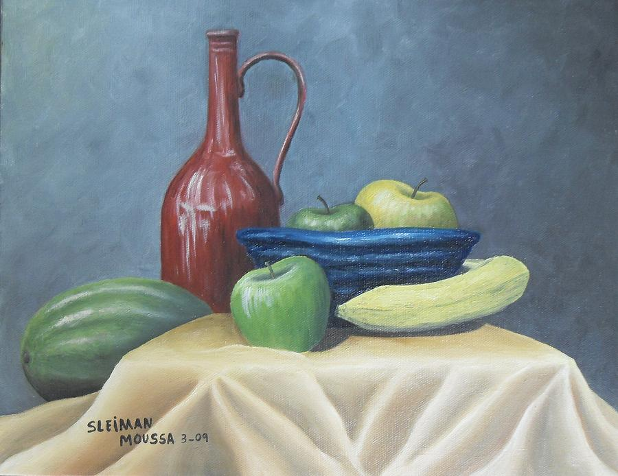 Still Life Painting - Killing Time by Sleiman Moussa