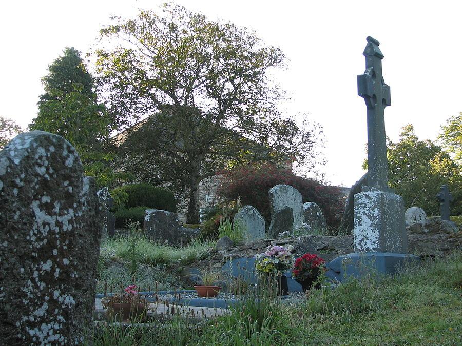 Graveyard Photograph - Kilmokea Graveyard by Kelly Mezzapelle