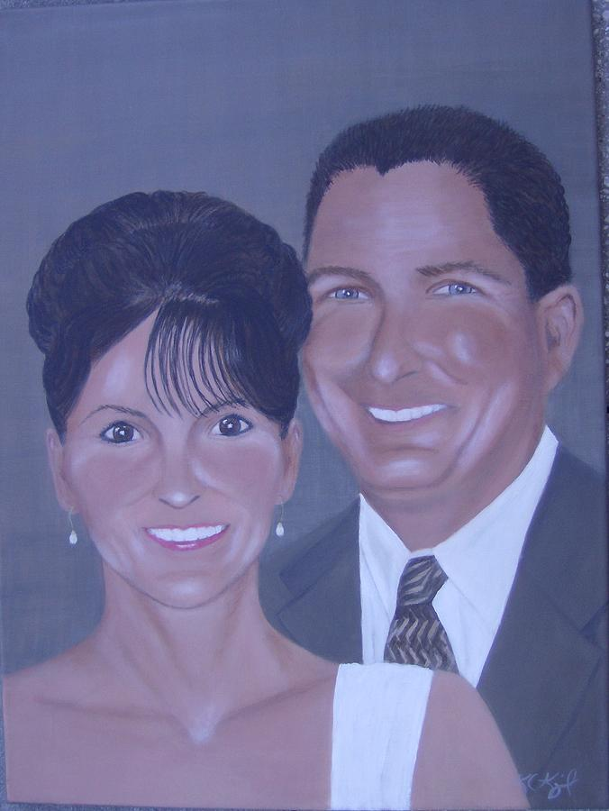 Portraits Painting - Kim And Kevin by KC Knight