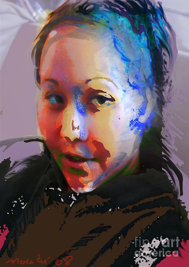 Portrait Mixed Media - Kime by Noredin Morgan