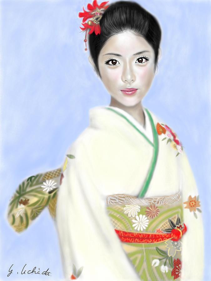 Digital Painting - Kimono girl No.2 by Yoshiyuki Uchida