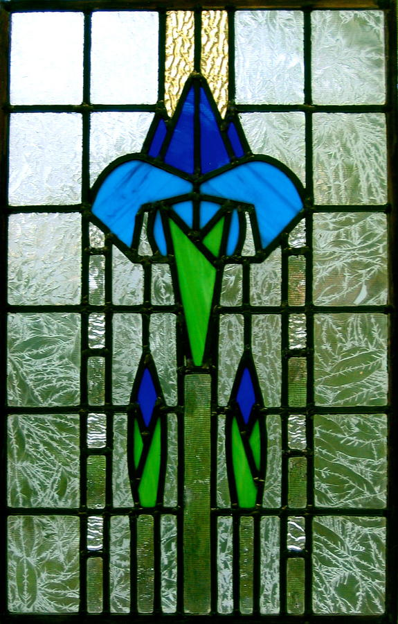 Stained Glass Glass Art - Kims Window by Alan Carlson