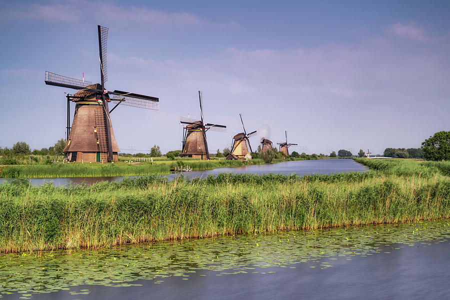 The Netherlands Photograph - Kinderdijk Windmills 1 by Framing Places