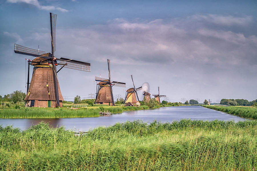 The Netherlands Photograph - Kinderdijk Windmills 2 by Framing Places