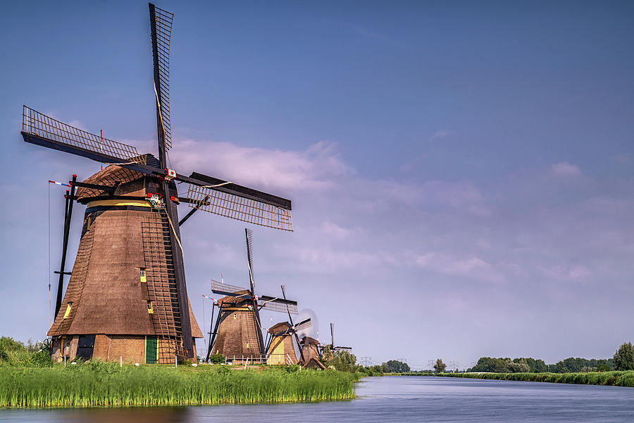 The Netherlands Photograph - Kinderdijk Windmills 3 by Framing Places