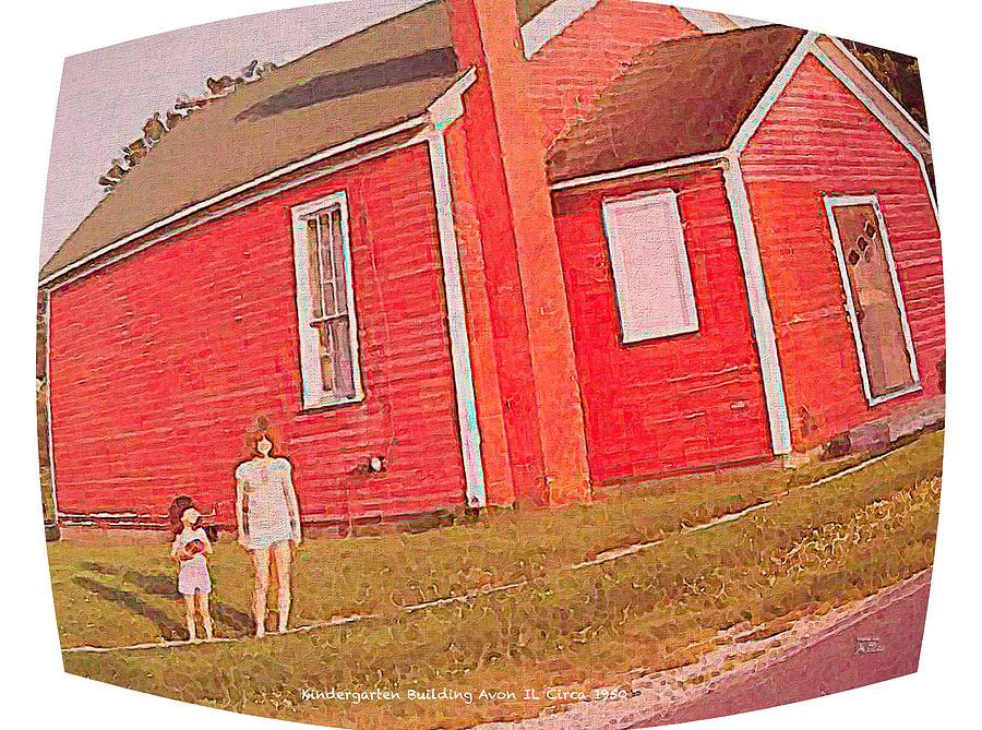 Kindergarten Avon Il Circa 1950s Digital Art