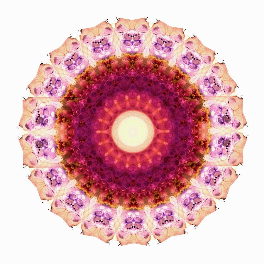Mandala Painting - Kindness Mandala Art By Sharon Cummings by Sharon Cummings