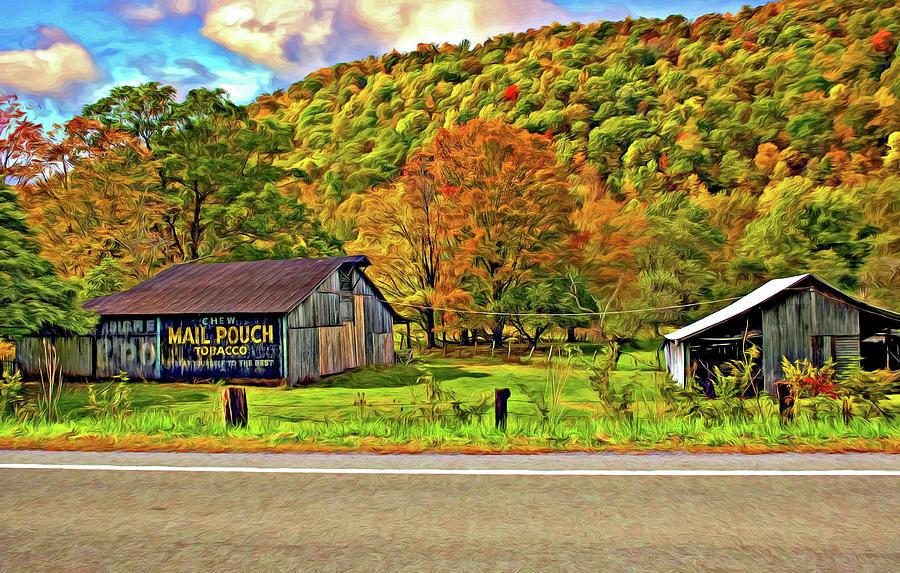 West Virginia Photograph - Kindred Barns Painted by Steve Harrington