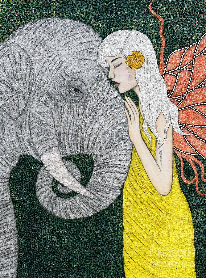 Elephant Painting - Kindred Souls by Natalie Briney