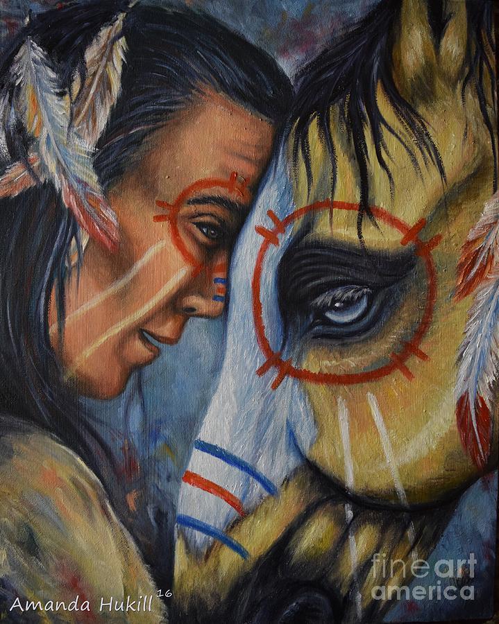 Horse Painting - Kindred Spirits by Amanda Hukill