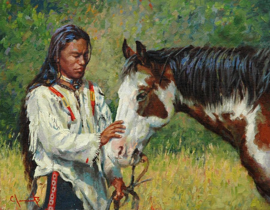 West Painting - Kindred Spirits by Jim Clements