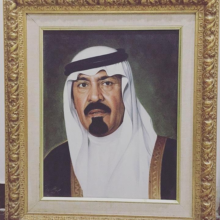 King Abdullah Drawing by Arwa Alhila
