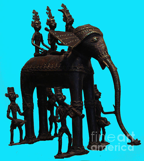 Sculpture Sculpture - King And Queen Onelephant  by Dhannu Lal