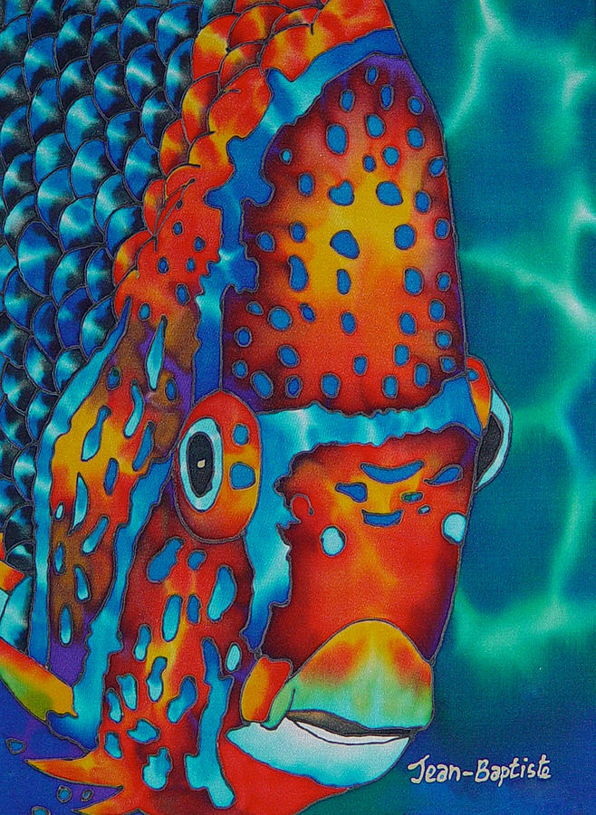 Angelfish Painting Painting - King Angelfish by Daniel Jean-Baptiste
