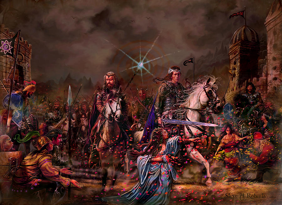King Arthur Painting - King Arthur Returns by Steve Roberts