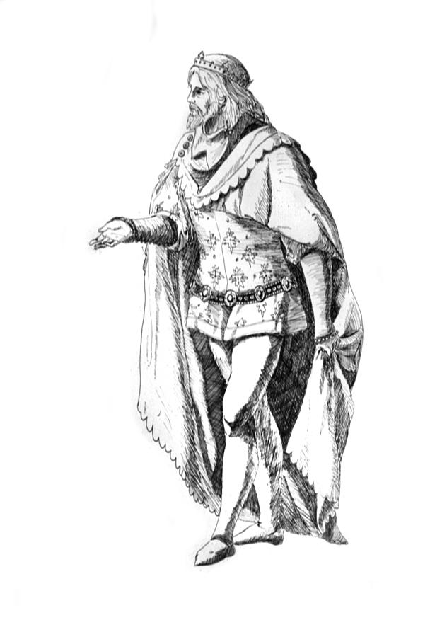 It's just an image of Lively Drawing Of Medieval King