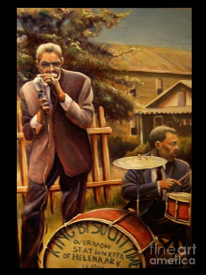 Blues Painting - King Bicuit Time by Brett Caplinger