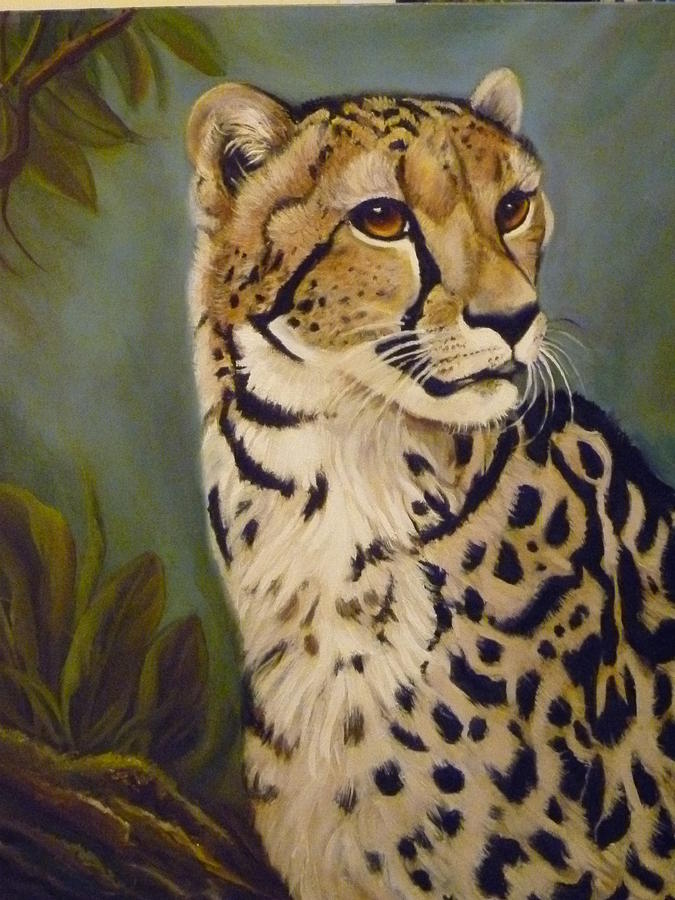 Animal Painting - King Cheetah by Janet Silkoff