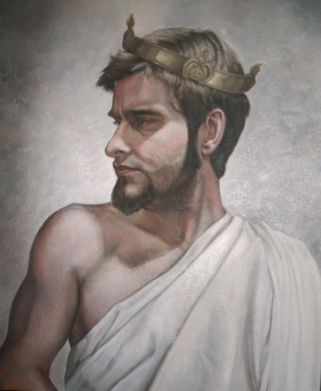 Biblical Painting - King David by Misty Fain