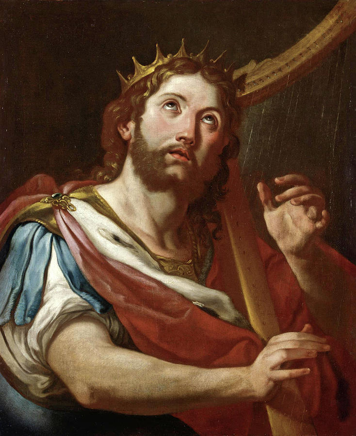 King David With The Lyre Painting by Sebastiano Conca
