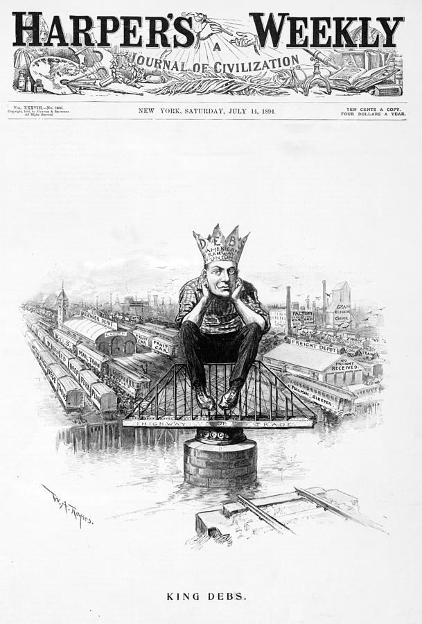 1890s Photograph - King Debs. Caricature Of Eugene Debs by Everett