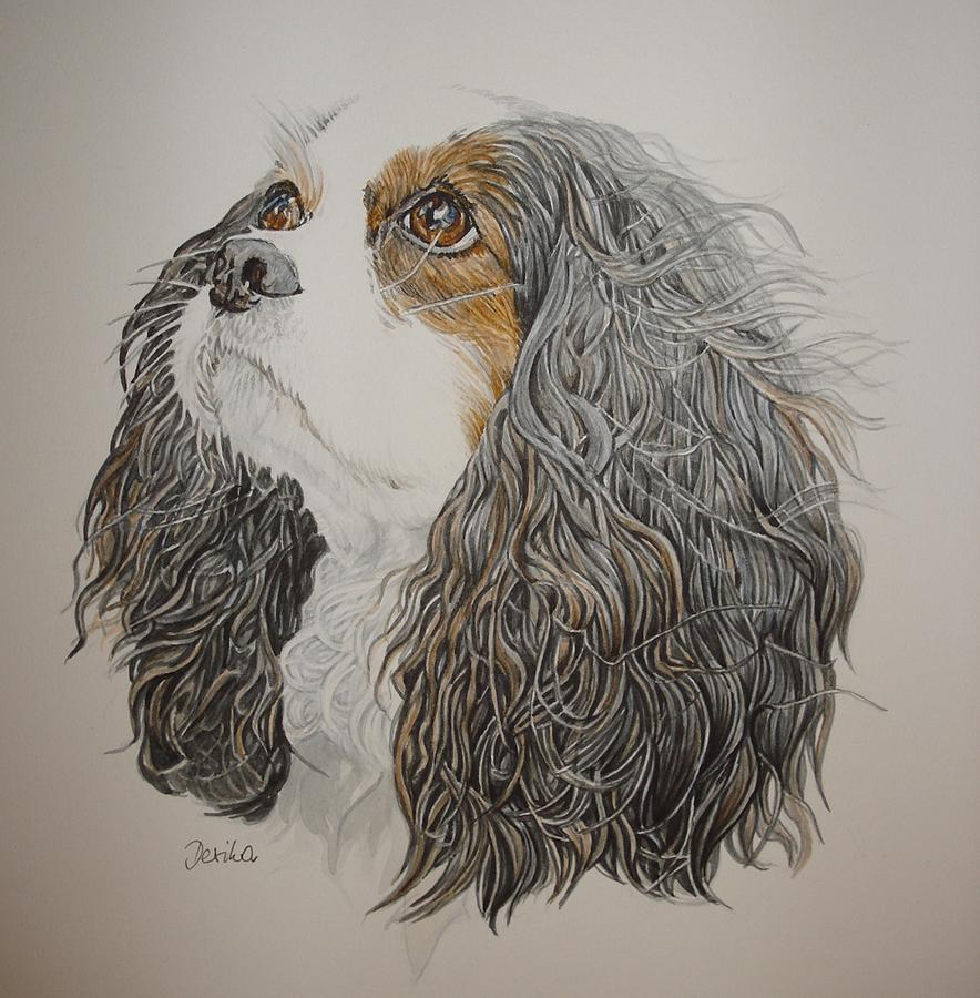 Dog Painting - King by Desimir Rodic
