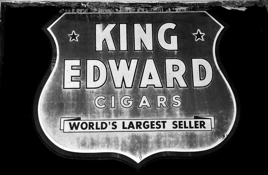 Black And White Photograph - King Edward Cigars by David Lee Thompson
