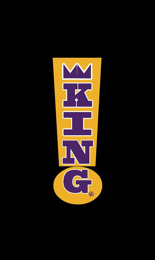 Purple And Gold Digital Art - King Exclamation Point by Stacy V McClain