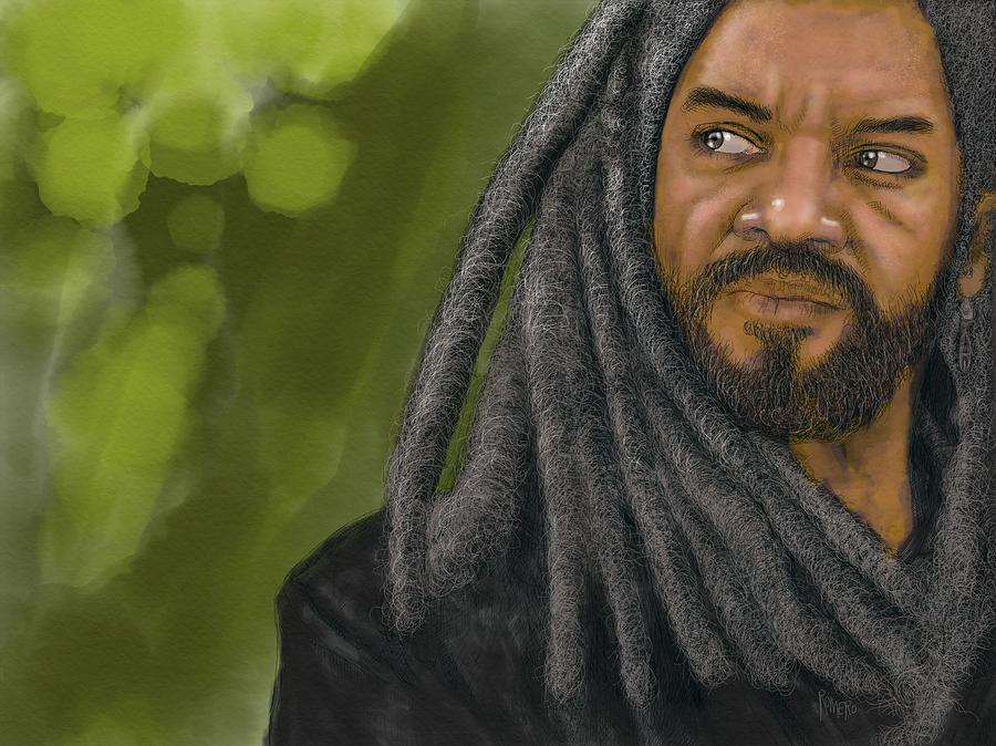 The Walking Dead Digital Art - King Ezekiel by Antonio Romero