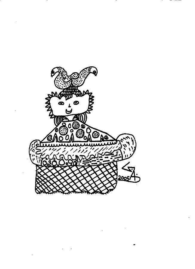 King Drawing by Gaurav Agrawal