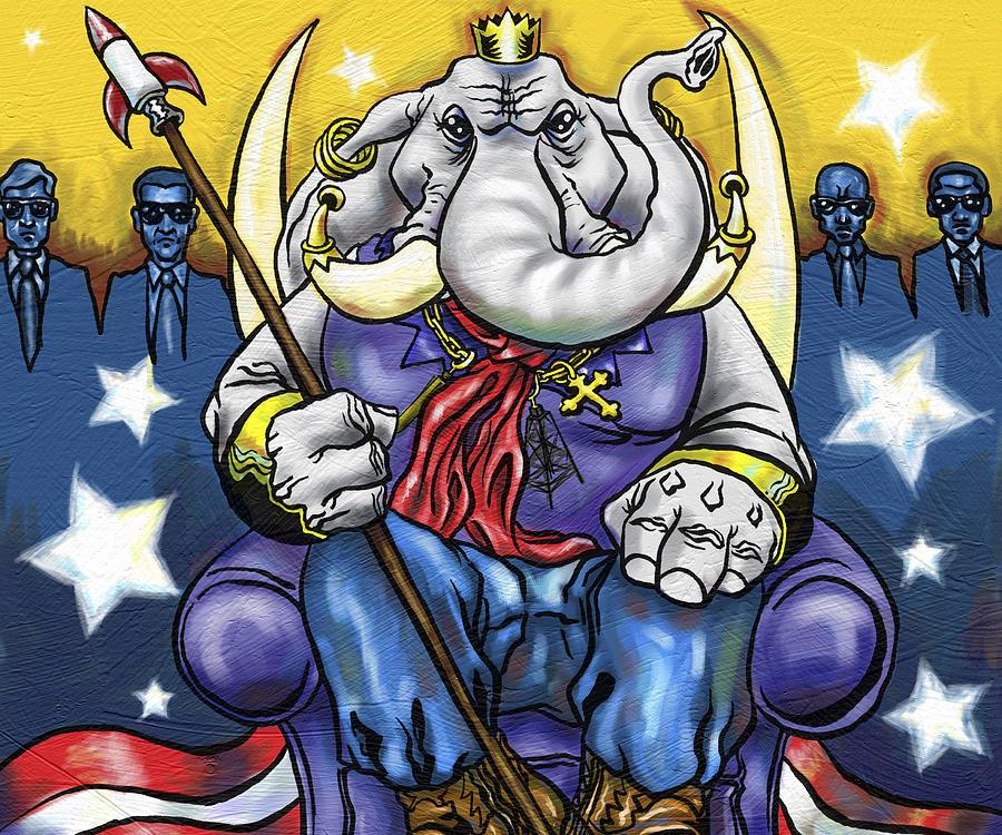 King George Painting by Baird Hoffmire