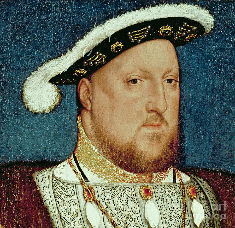 King Painting - King Henry Viii by Hans Holbein the Younger