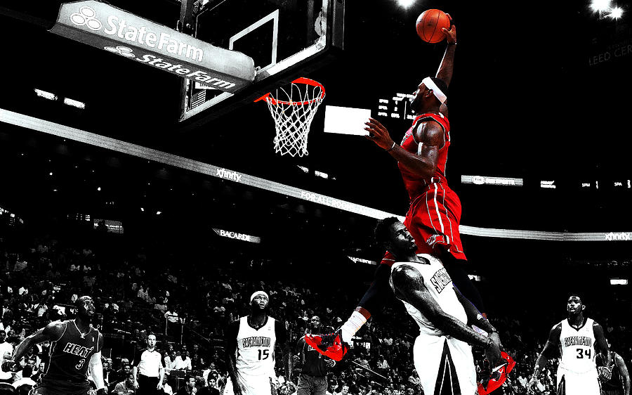 8a4d4ce9d129 King James Nasty Dunk Mixed Media by Brian Reaves