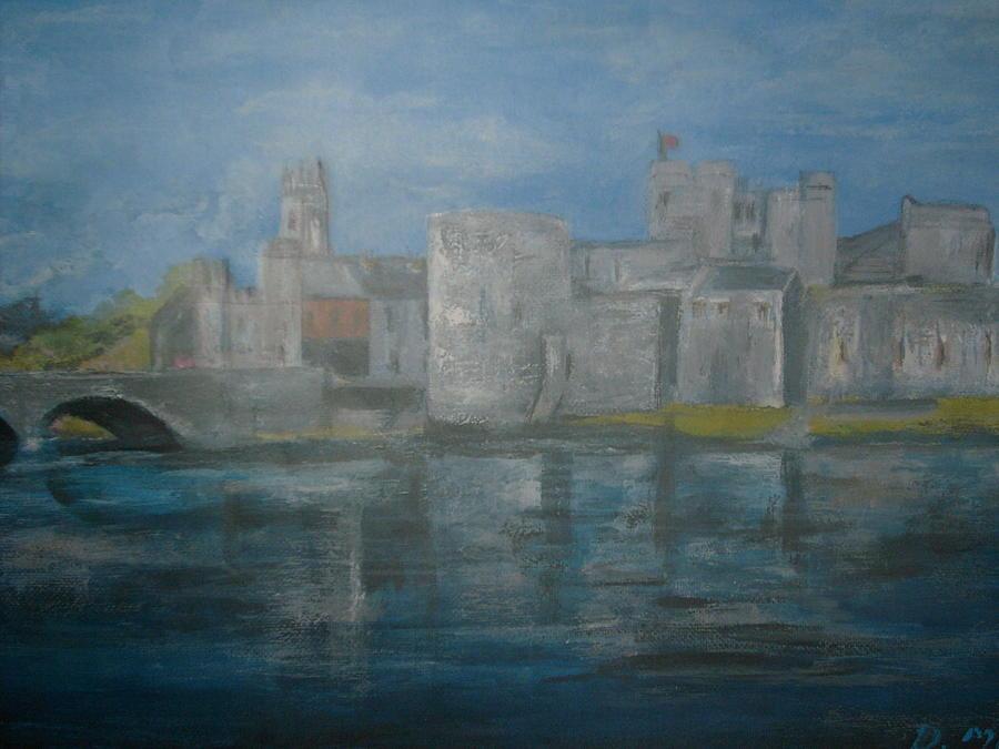 City Painting - King Johns Castle Limerick City by Deirdre McNamara