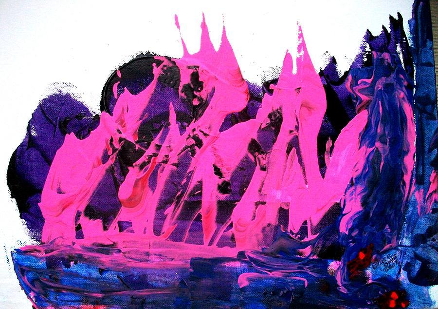 Pink Painting - King Kong Attacks Phantom Pink Sail Boat by Bruce Combs - REACH BEYOND