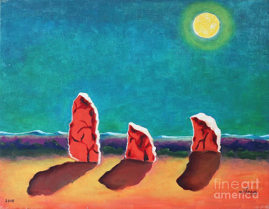 Landscape Painting - King Light by Ushangi Kumelashvili