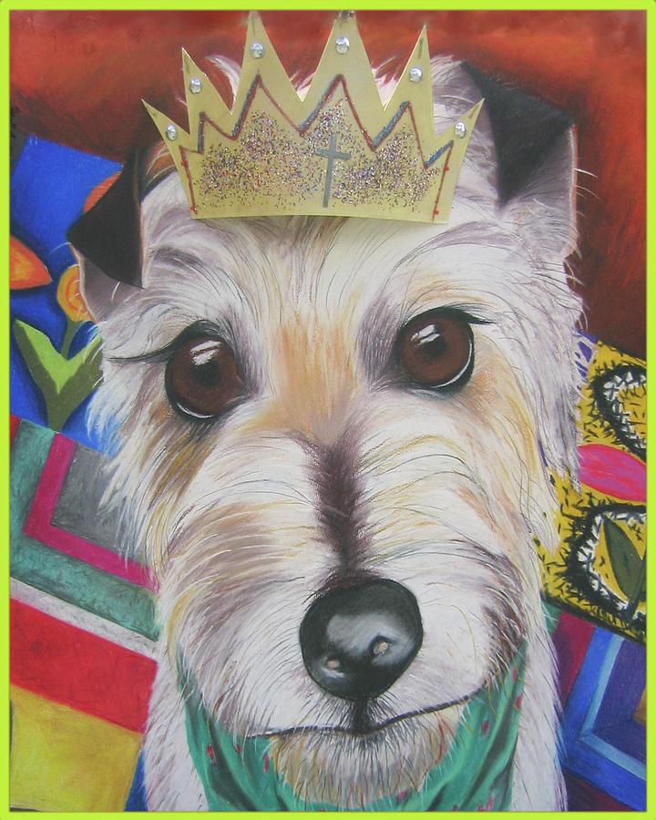 Dog Pastel - King Louie by Michelle Hayden-Marsan