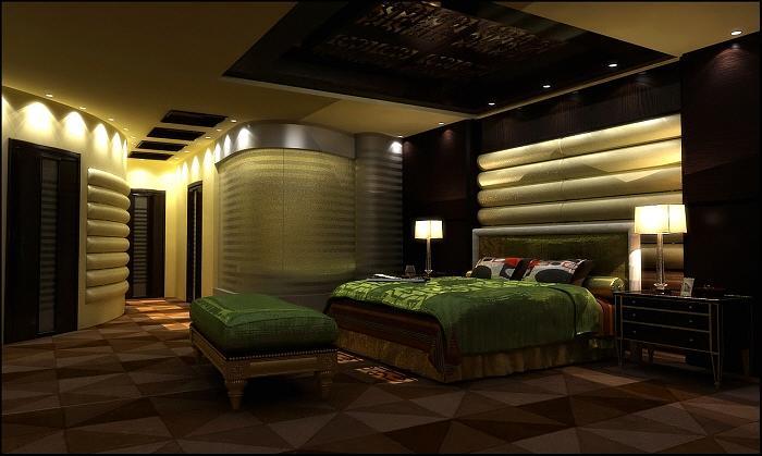 King Master Bedroom Presidental Suite Interior Digital Art