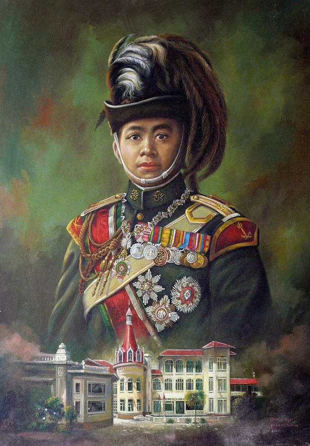 Oil Painting - King Mongkut by Chonkhet Phanwichien