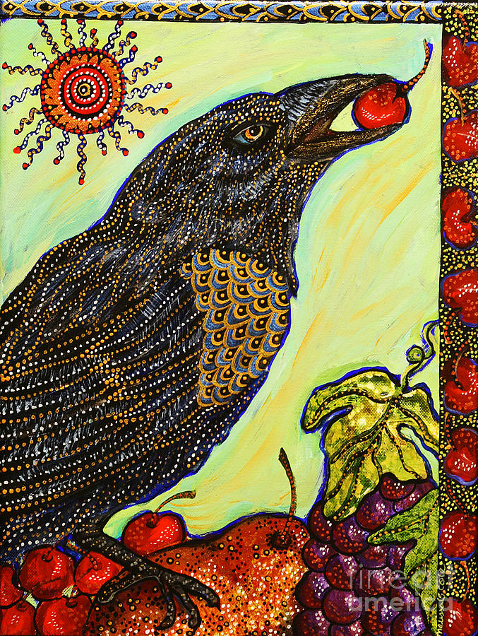Bird Painting - King Of Bing by Melissa Cole