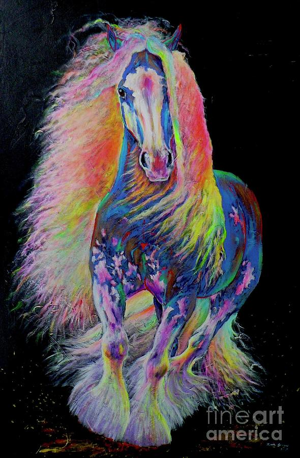 Gypsy Horse Painting - King Of Colours by Louise Green